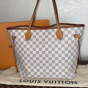 Authentic Louis Vuitton damier Azur neverfull MM
